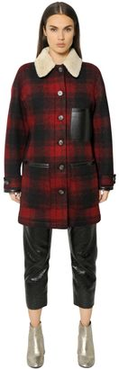 Plaid Wool & Faux Shearling Coat $985 thestylecure.com