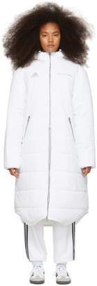 Gosha Rubchinskiy White adidas Originals Edition Long Puffer Jacket