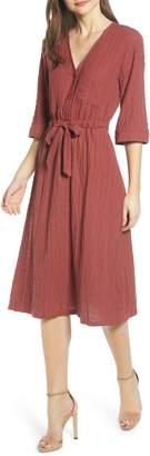 ALL IN FAVOR Stripe Midi Dress