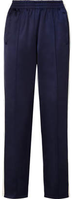 Opening Ceremony Reversible Striped Satin-shell Track Pants - Midnight blue