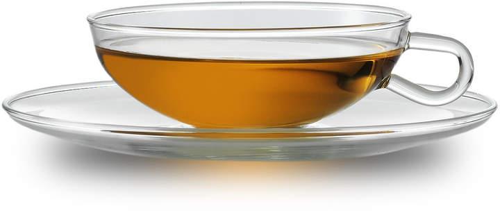 Zwiesel Kristallglas AG Jenaer Glas – Wagenfeld Teetasse mit Untertasse (2er-Set)