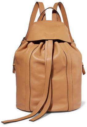 Loewe Small Leather Backpack - Beige