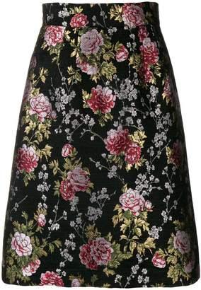 Dolce & Gabbana jacquard floral skirt