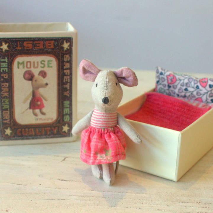 Little Ella James Baby Mouse In Matchbox