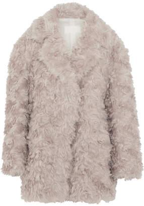 Maison Margiela Oversized Mohair Coat - Gray