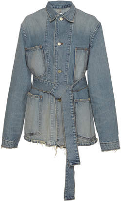 Tre by Natalie Ratabesi Aaliyah Belted Denim Jacket