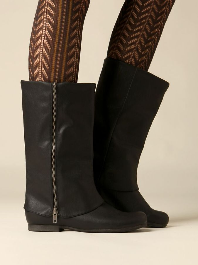 Zip Fold Over Boot