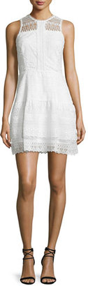 Parker Nerissa Sleeveless Lace Dress, Ivory $288 thestylecure.com