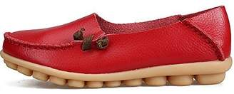 LabatoStyle Women's Genuine Leather Flats Casual Moccasin Driving Loafers Shoes (, 10 B(M) US)