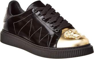 Versace Metallic Tip Leather Sneaker