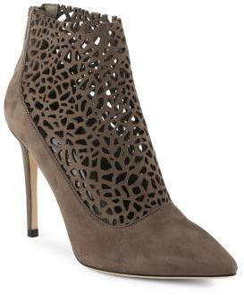 Point Toe Leather Ankle Boots $1,095 thestylecure.com