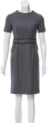 Saint Laurent Wool and Silk Mini Dress