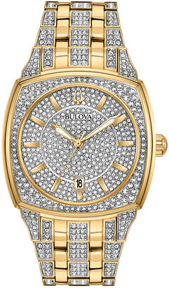 Bulova Men's Two-Tone Stainless Steel & Crystal-Accent Bracelet Watch 40mm