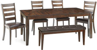 Asstd National Brand Landry 6-pc. Extendable Dining Set with 4 Ladderback Chairs and Bench