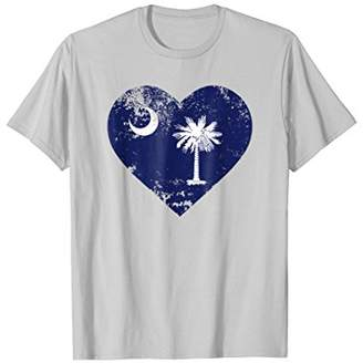 Love South Carolina Shirt Heart Moon And Palmetto Tree Tee