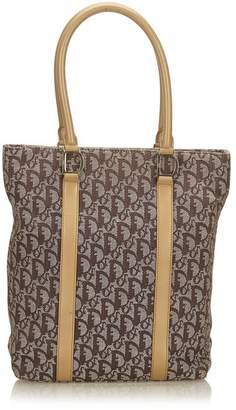 Christian Dior Vintage Oblique Canvas Tote Bag