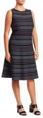 Nic+Zoe Plus This Or That Striped Fit-&-Flare Dress