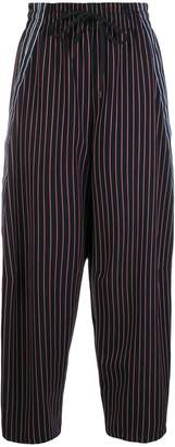See by Chloe striped tapered joggers