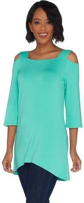Belle By Kim Gravel Belle by Kim Gravel Open Shoulder Tunic with Shoulder Straps