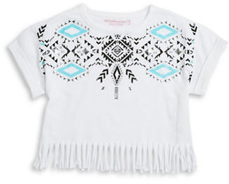 Design History Girls 7-16 Fringed Tribal Top $38 thestylecure.com