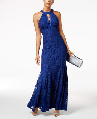 Night Way Nightway Cutout Lace Gown