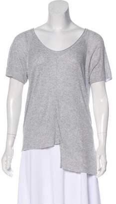 Alexander Wang Short Sleeve Scoop Neck T-Shirt