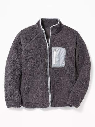 Old Navy Go-Warm Sherpa Zip Jacket for Girls
