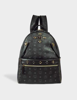 MCM Dual Stark Medium Backpack in Black Visetos