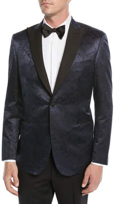 Brioni Men's Floral Jacquard Dinner Jacket