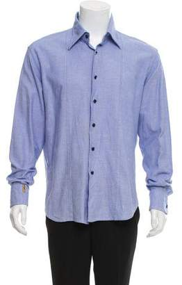 Couture Billionaire Italian Piqué Button-Up Shirt