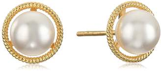 Swarovski Amazon Collection 10k Gold Made with Birthstone August Stud Earrings