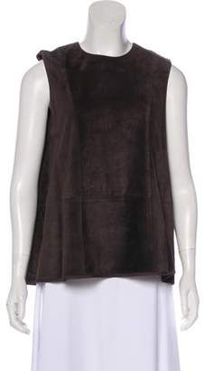 The Row Sleeveless Suede Top