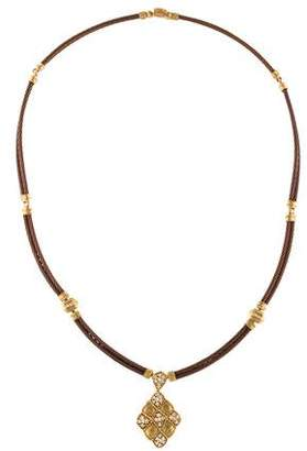 Charriol Diamond Pendant Cable Necklace