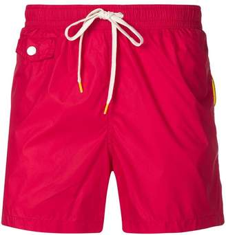 drawstring-waist swim shorts