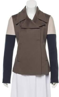 Les Copains Wool Colorblock Coat