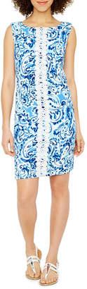 Jessica Howard Sleeveless Paisley Shift Dress