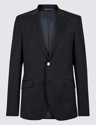 Marks and Spencer Wool Blend Textured Slim Fit Jacket