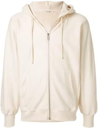 The Row Cream zipped hoodie