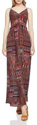 BCBGeneration Ruffle-Detail Printed Maxi Dress