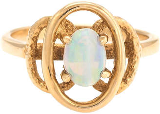 One Kings Lane Vintage Opal Cocktail Ring - Precious & Rare Pieces