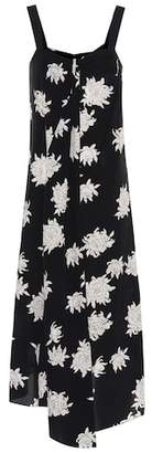Vince Floral-printed silk dress