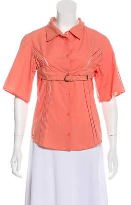 Hussein Chalayan Belted Button-Up Top w/ Tags