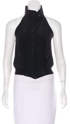 CNC Costume National Silk Sleeveless Top