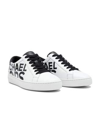 Michael Kors Irving Lace Up Graphic Logo Trainers Colour: WHITE, Size: