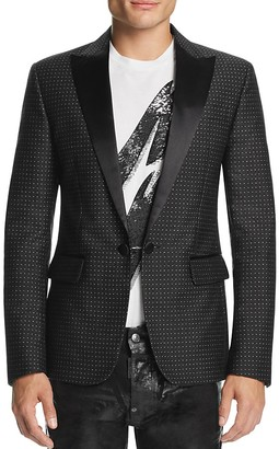 DSQUARED2 Micro Dot Slim Fit Tuxedo Jacket $1,980 thestylecure.com