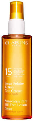 Clarins Sunscreen Spray Oil-Free Lotion Progressive Tanning SPF 15
