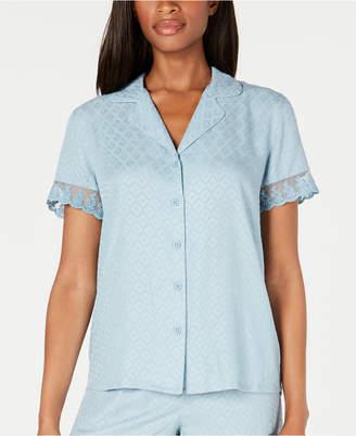 Charter Club Lace-Trim Pajama Top