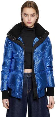 Ohara Metallic Nylon Down Jacket $306 thestylecure.com