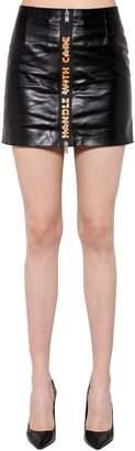 Buffalo David Bitton Heron Preston Zip-Up Leather Mini Skirt
