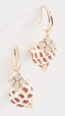 Anton Heunis Shell Crystal Earrings
